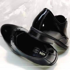 Мужские стильные туфли кожаные Ikoc 2118-6 Patent Black Leather.