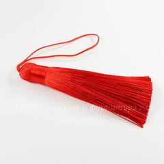 Кисточка декоративная, цвет - красный, 85х12 мм