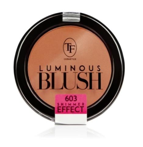 ТФ Румяна пудровые с шиммер эффектом- тон 603 Розовый персик