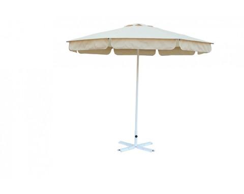 Зонт Ø 2.5 м (8) с пришитым воланом (алюминиевый каркас с подставкой, тент OXF 300D) ПК
