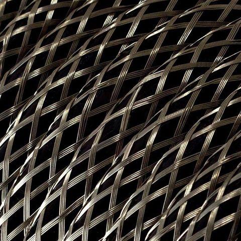 Круглый ретро провод с металлической оплеткой (Серебро) Италия