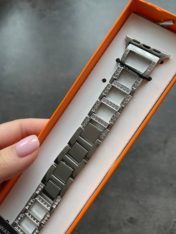 Ремешок Apple watch 42mm Lady band NEW2 /silver/