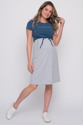 Платье для беременных и кормящих 12515 серый