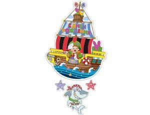 Подвеска С Днем Рождения Пират Йо-хо-хо 41см