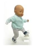 Вязаные кеды - На кукле. Одежда для кукол, пупсов и мягких игрушек.