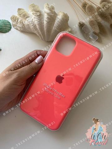Чехол iPhone 11 Pro Max Silicone Case /coral/ коралл 1:1