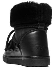 Высокие комбинированные кеды INUIKII 70202-5-H Sneaker Classic Black High на меху
