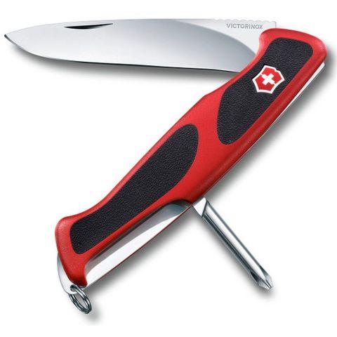 Нож перочинный Victorinox RangerGrip 53 (0.9623.C) 130мм 5функций красный/черный