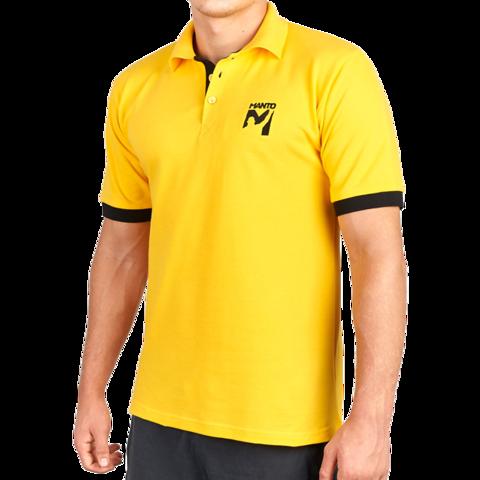 Футболка-поло Manto Victory желтая