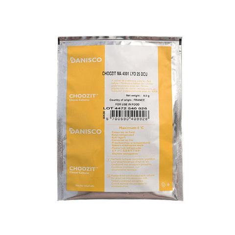 Danisco CHOOZIT MA 4001, 25 DCU, мезо-термофильная закваска (на 500 л)