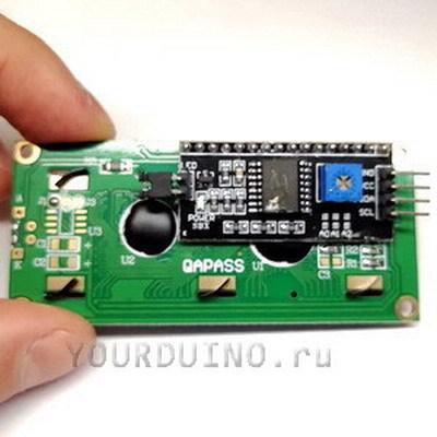Дисплей LCD1604 (зеленый) + I2C Конвертер