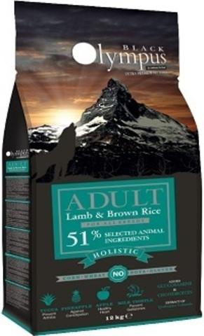 Black Olympus Adult Medium Lamb & Rice - Для собак средних пород, ягненок/коричневый рис 12 кг.
