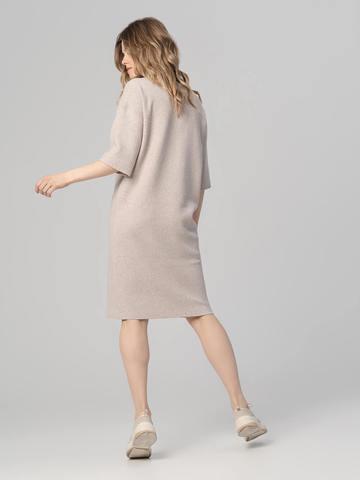 Женское платье песочного цвета из вискозы - фото 4
