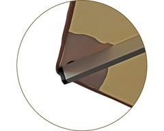 Зонт Ø 2.5 м (8) с пришитым воланом (алюминевый каркас с подставкой, тент OXF 300D) ПК