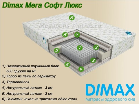 Матрас Димакс Мега Софт Люкс в Мегаполис-матрас