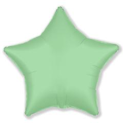 Шар звезда сатин мятный