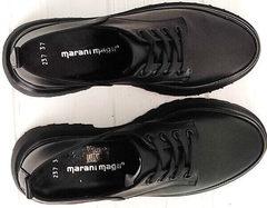 Весенние туфли женские натуральная кожа Marani magli M-237-06-18 Black.