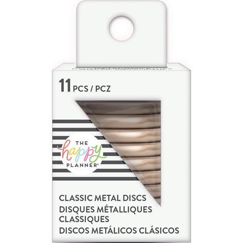 Диски металлические - (крепежный механизм для ежедневников) Happy Planner Metal Expander (Mini) Discs  -Rose Gold- 2.3 см