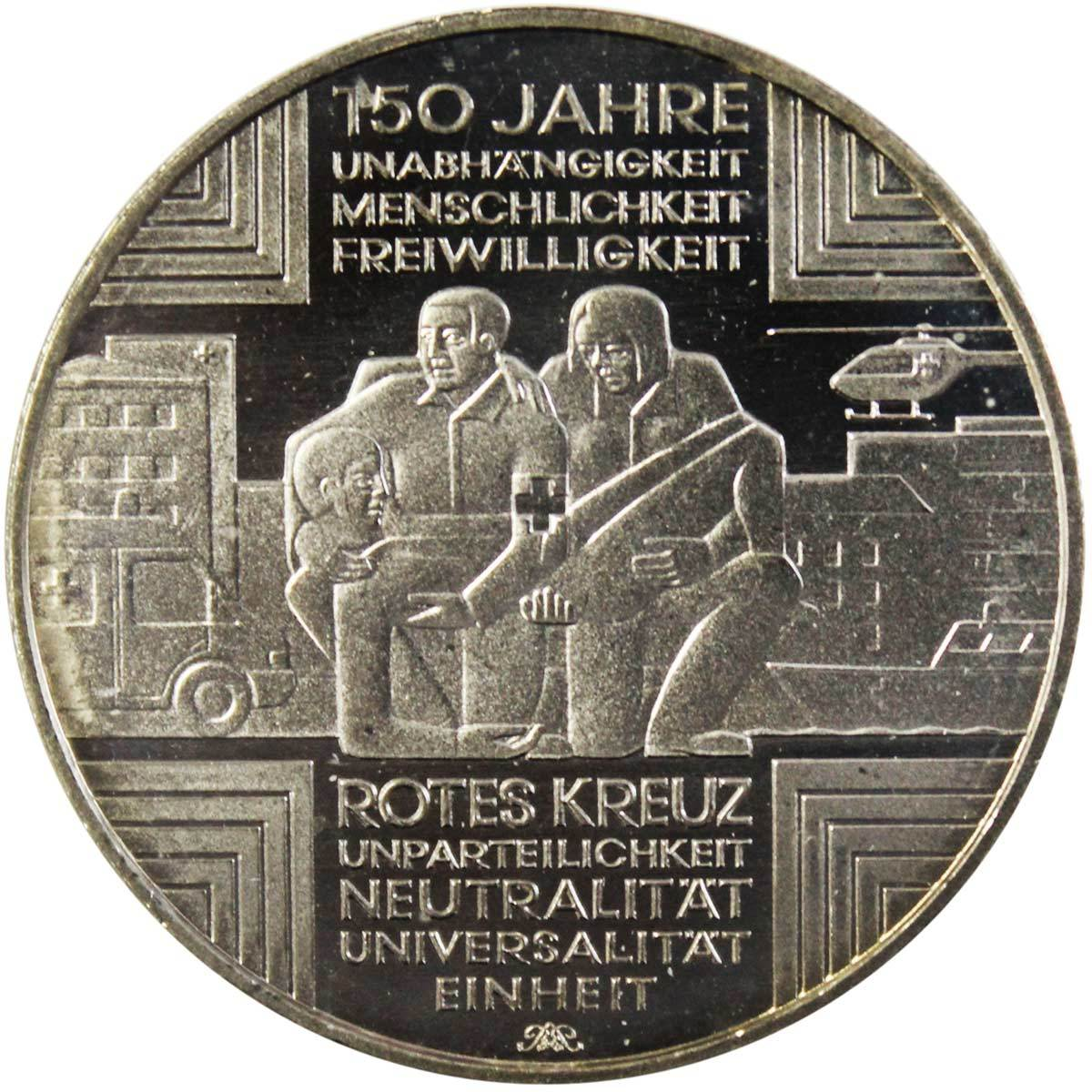 10 евро. 150 лет Красному Кресту (А). Германия. Медноникель. 2013 год