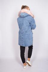 зимняя джинсовая куртка с мехом женская купить