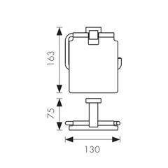 Держатель для туалетной бумаги KAISER Canon KH-2300 схема
