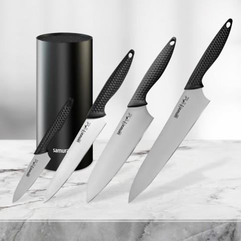 Набор из 4 ножей Samura Golf и и подставки KBF-102