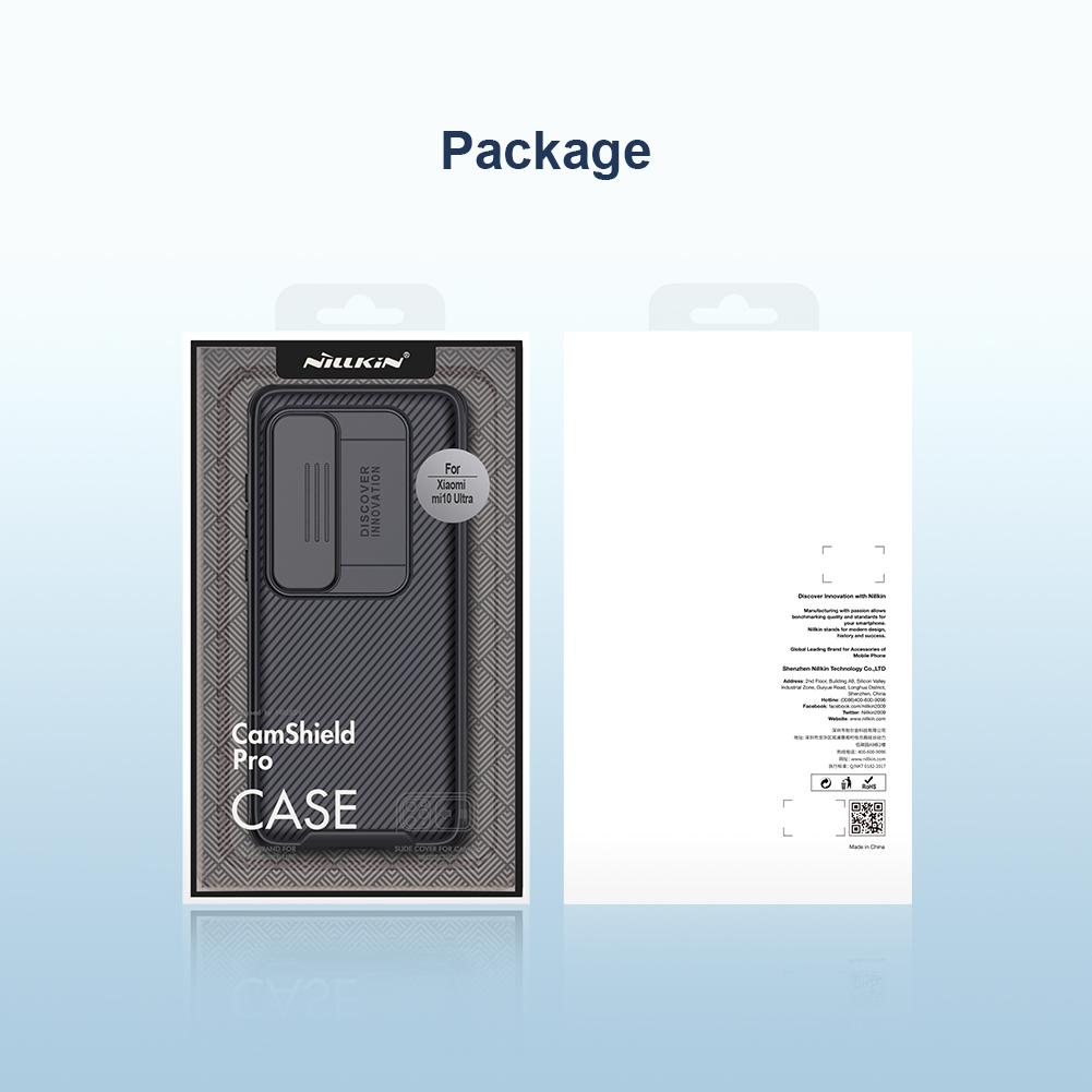 Чехол для Xiaomi Mi 10 Ultra с защитной шторкой для камеры от Nillkin серии CamShield Pro Case