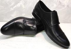 Черные кожаные туфли классические Ikoc 2205-1 BLC.