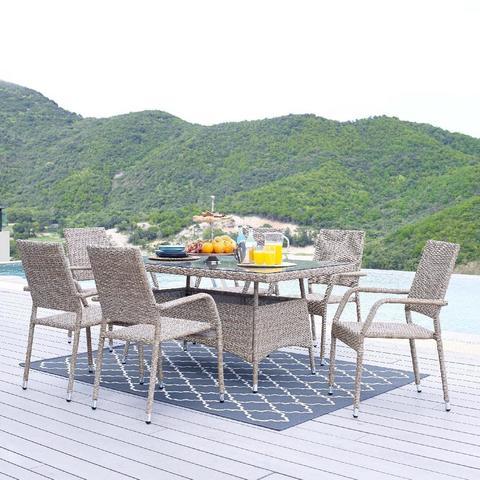 Комплект обеденный (стол и 6 кресел), 210241