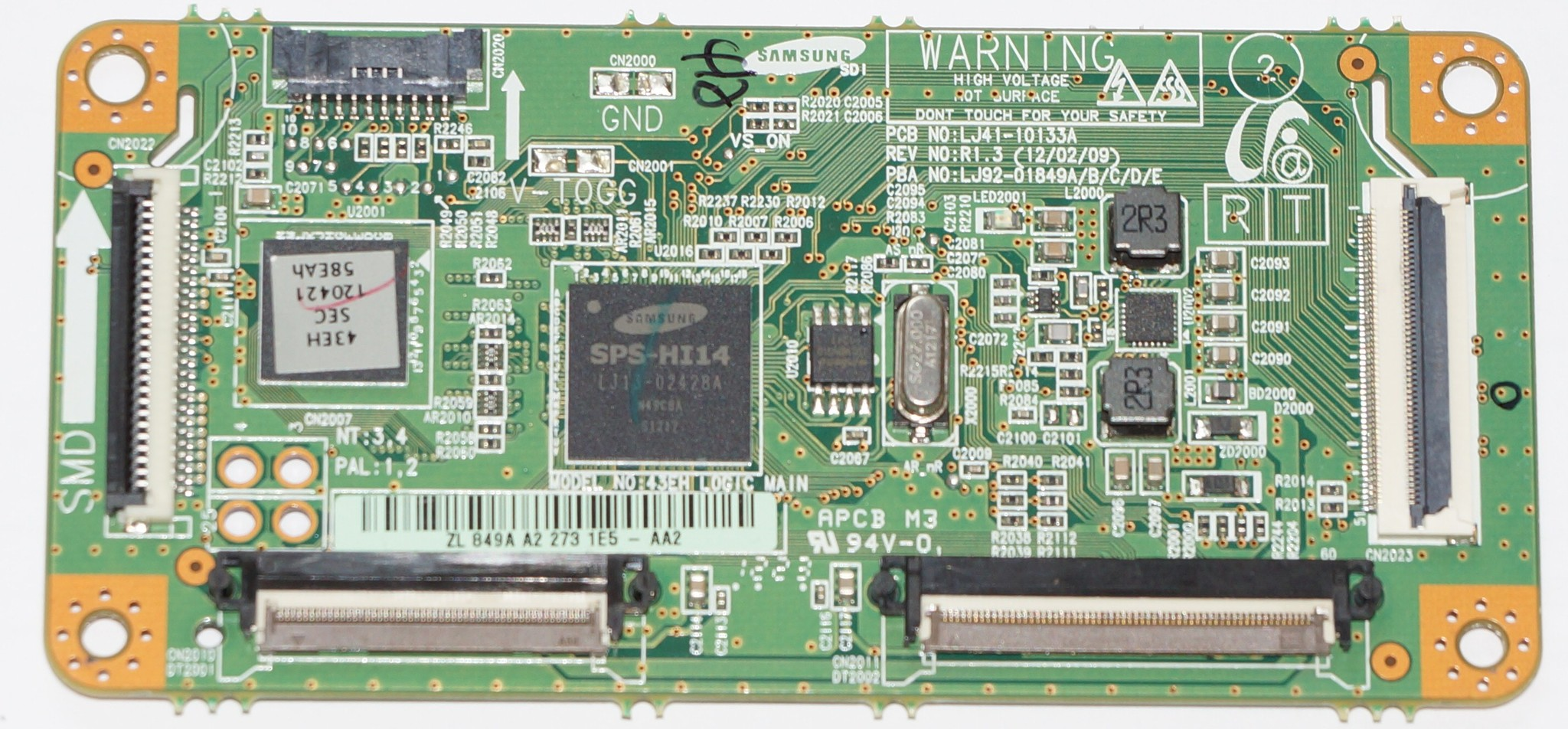 LJ41-10133A LJ92-018494 model 43eh logic main телевизора Samsung