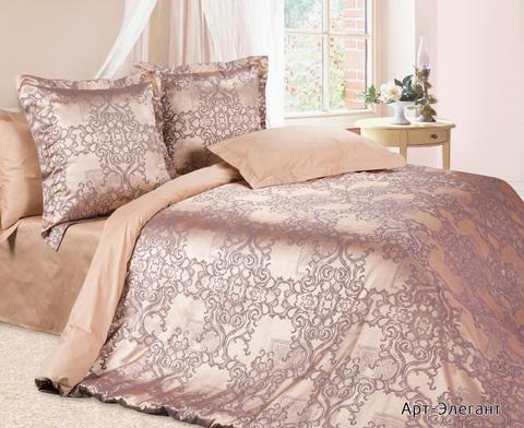 Жаккардовое постельное бельё 2 спальное, Арт-элегант