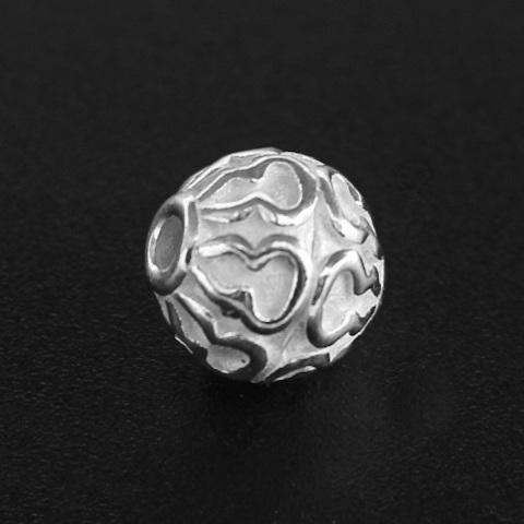 Бусина Джамбо 10 мм серебро 925