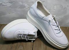 Утепленные кроссовки для повседневной носки женские Rozen M-520 All White.