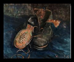 "Репродукция ""Ван Гог - Пара обуви (Башмаки)"""