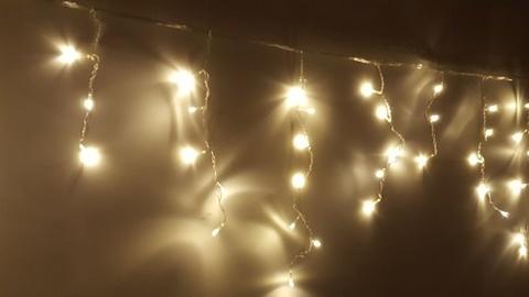 Бахрома домашняя светодиодная 3*0,5м 80LED тепл/бел