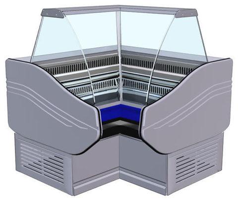 Витрина холодильная AРИЕЛЬ ВС 3 УВ (угол внутренний)  АРИАДА
