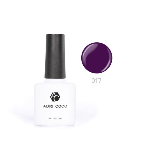 Цветной гель-лак ADRICOCO №017 баклажановый (8 мл.)