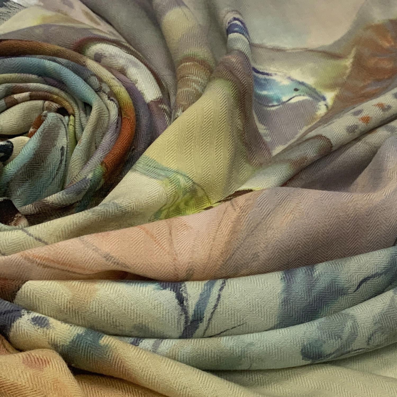 Кашемировый платок батик Трели С-74-sh