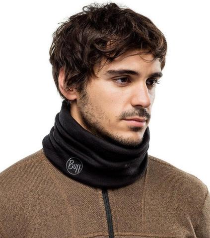 Теплый шерстяной шарф-труба Buff Black фото 2