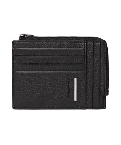 Чехол для кредитных карт Piquadro Modus, черный, 8 отделений, 9,5x12,5x0,5 см