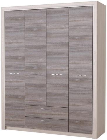 Шкаф Октава 4С2Я серый