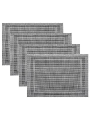 Комплект из 4-х прямоугольных кухонных термосалфеток Dutamel плейсмат салфетка сервировочная - рамка серая DTM-025 45*30 см