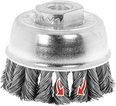 Чашечная щетка Комбинир. завивка жгутов, стальная проволока 0,50 мм 65XM14 мм