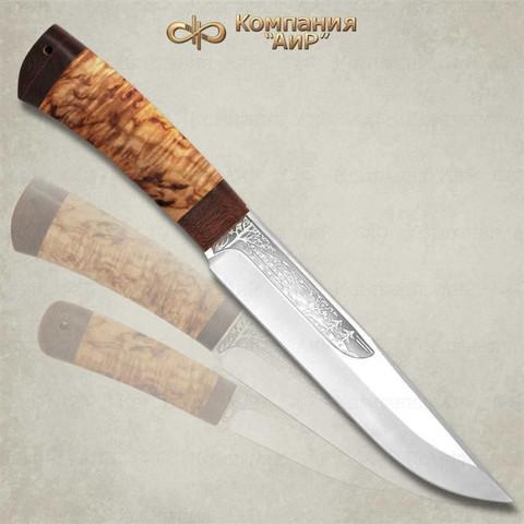 Нож Шашлычный большой, карельская береза, 100х13м