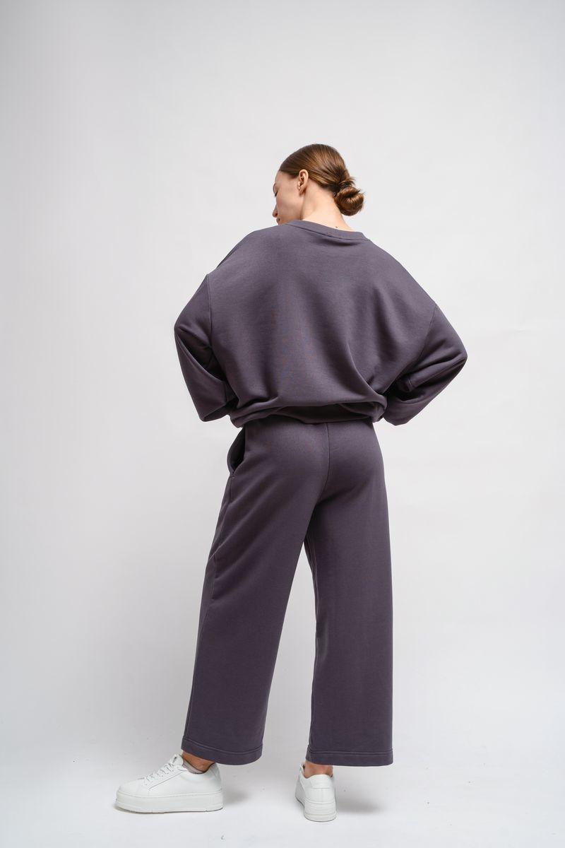 Домашние трикотажные брюки темно-серые