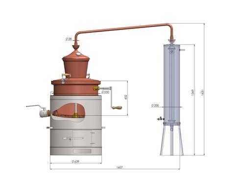 Дистиллятор медный Des Профессионал 100 литров