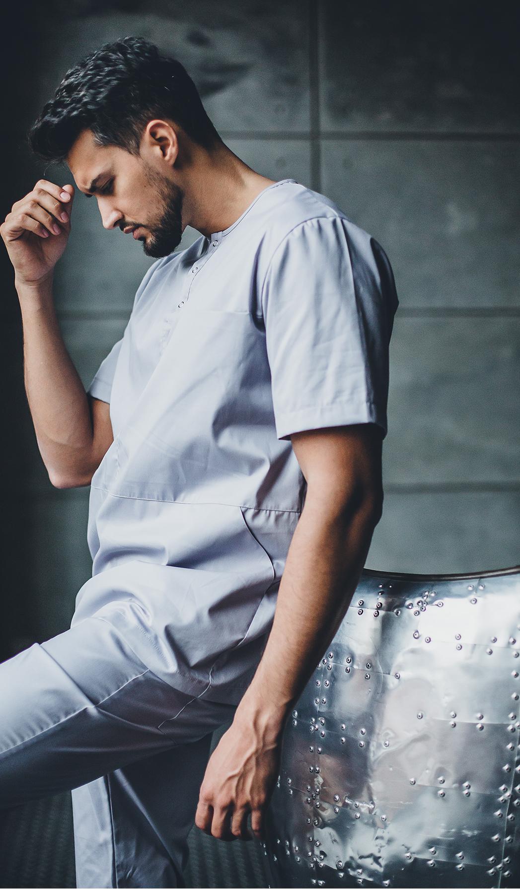 Блуза мужская медицинская М 418