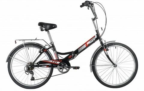 Складной велосипед Novatrack TG-24 CLASSIC 6.0 FS черный