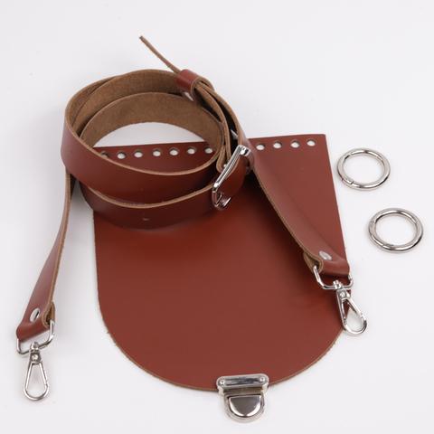 """Комплект для сумочки Орео """"Коньяк"""" N1"""