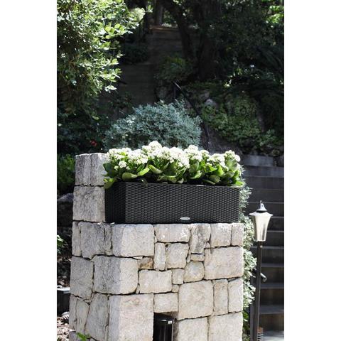 15619 Кашпо LECHUZA Балконера Коттедж 80 Черный графит  с системой полива*